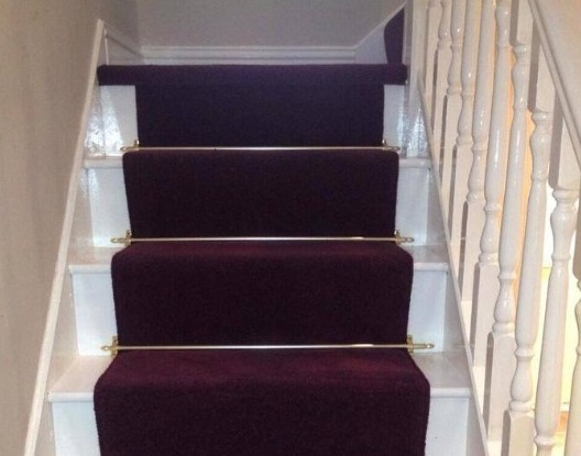 Stair rods and runner